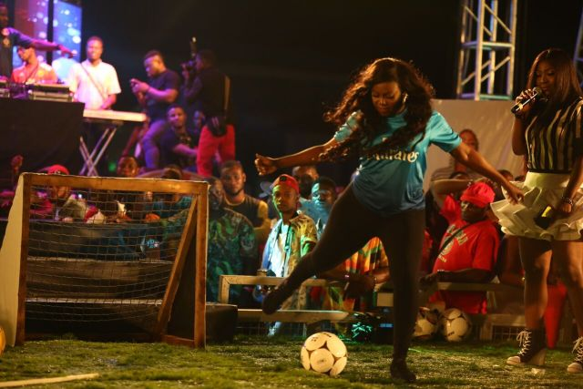 MCFC12 - Davido, Runtown, Mr. P, Niniola, Oritsefemi, 9ice, Olu Maintain, Falz & more Shutdown Barbeach at the Merrybet Celebrity Fans Challenge Event