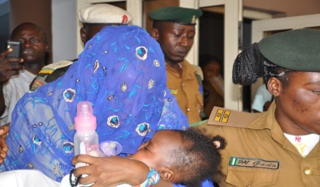 Maryams 01 - Photos of Maryam Sanda, cuddling her baby today, as court refuses pleas, sends her back to prison