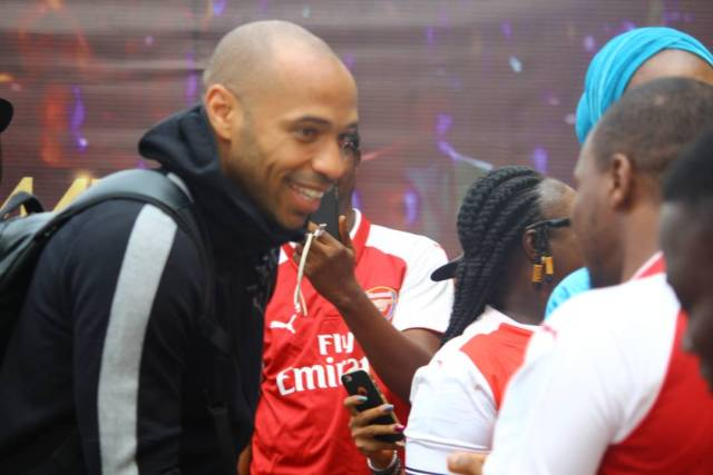 Thierry Henry Arrives Nigeria