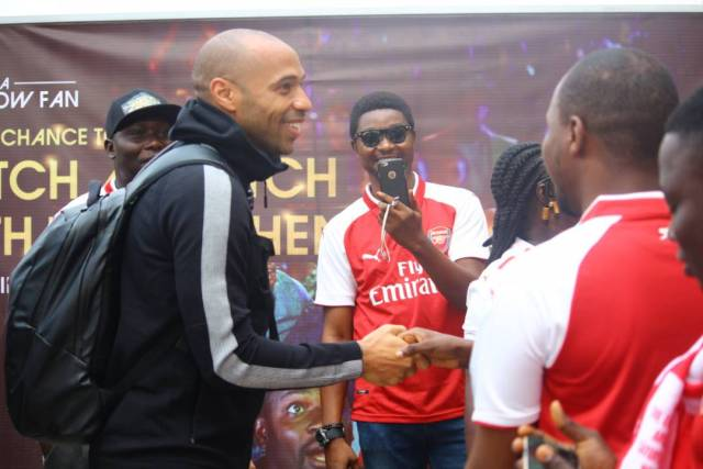 Thiery Henry in Nigeria3 - Football Legend, Thierry Henry Arrives Nigeria. (Photos)