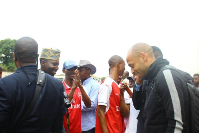 Thiery Henry in Nigeria4 - Football Legend, Thierry Henry Arrives Nigeria. (Photos)