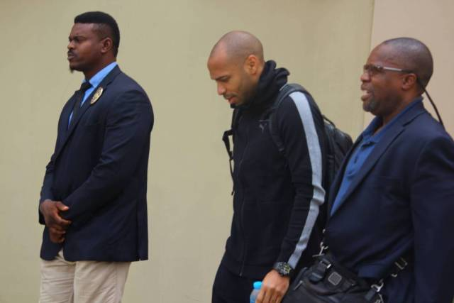 Thiery Henry in Nigeria5 - Football Legend, Thierry Henry Arrives Nigeria. (Photos)