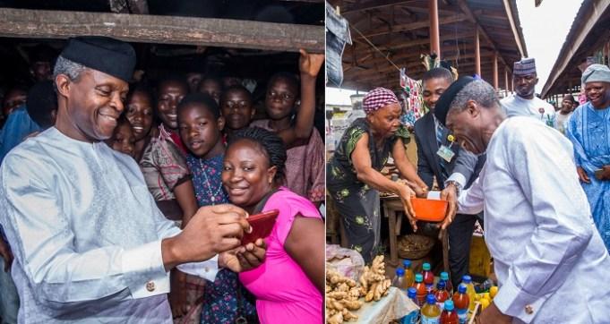 Yemi Osinbajo Takes Selfie Surprise Visit