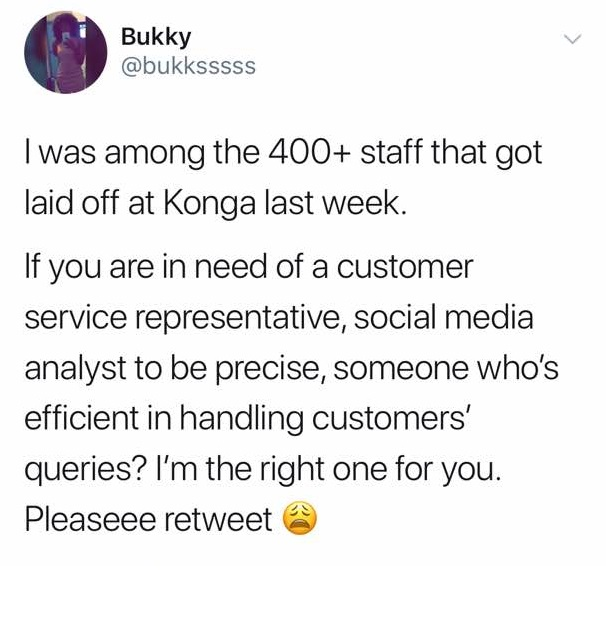 WhatsApp Image 2017 12 05 at 8.44.33 AM - Lady gets several job offers on Social media after she was laid off by Konga
