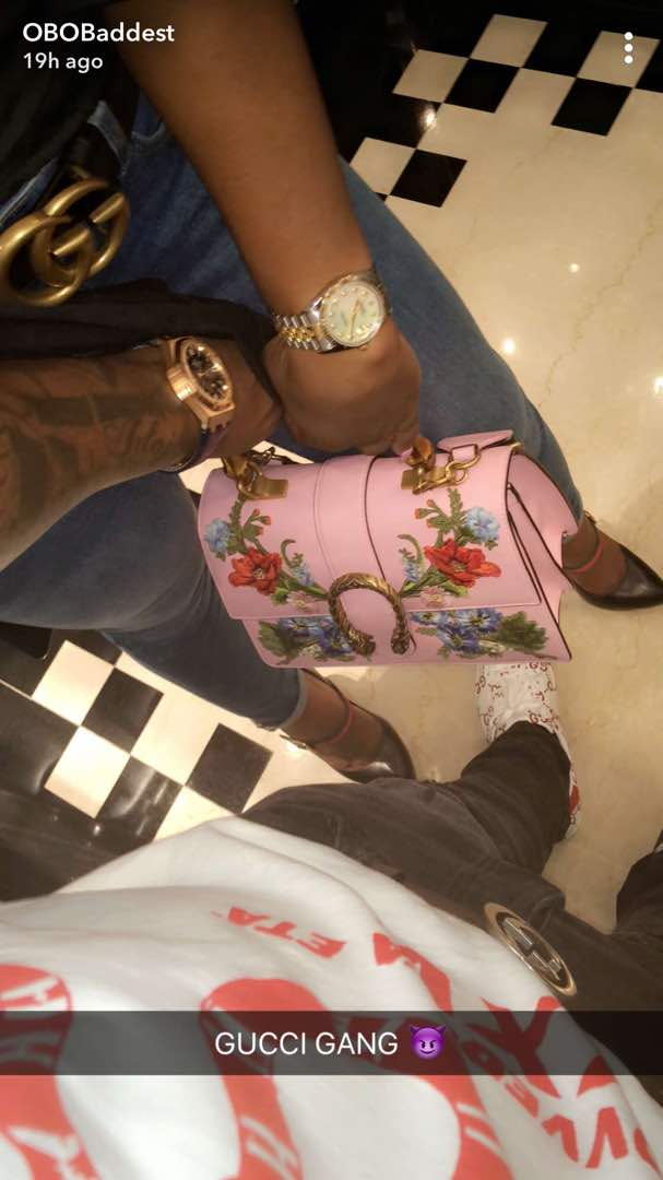 Davido goes Gucci shopping
