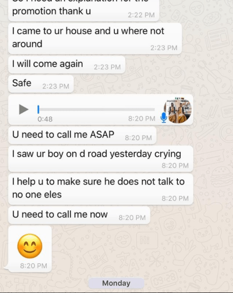 bob screen 1 - Bobrisky Comes For Mc Galaxy For Breaking Him And Jacob Apart, Shares Screenshots Of Their Chats.