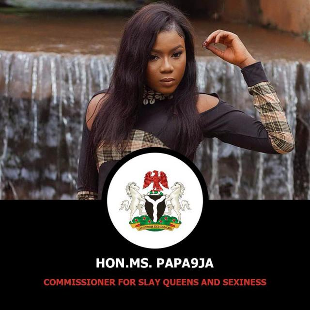 Nigerian Lady declares herself Commisioner of Slay queens and sexiness