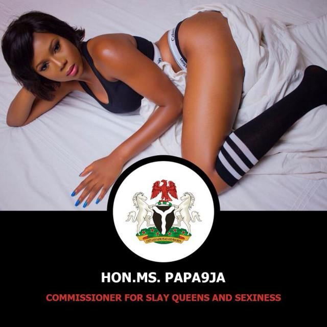 slay11 - Nigerian Lady declares herself Commisioner of Slay queens and sexiness