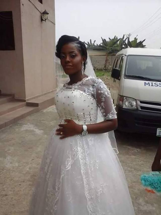 Image result for A Nigerian lady testing her wedding dress