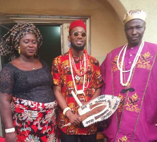 dbanj bags chieftaincy title