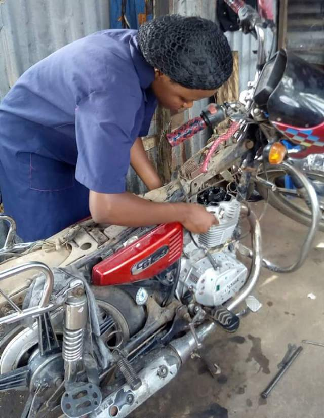 Female Motorcycle Mechanic