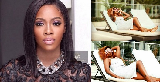 Tiwa Savage flaunts leg tattoo