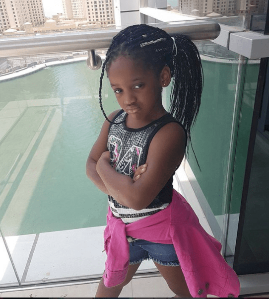 annie idibia second daughter olivia turns 4