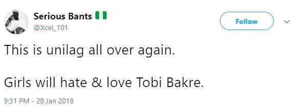 Tobi Bakre snatched