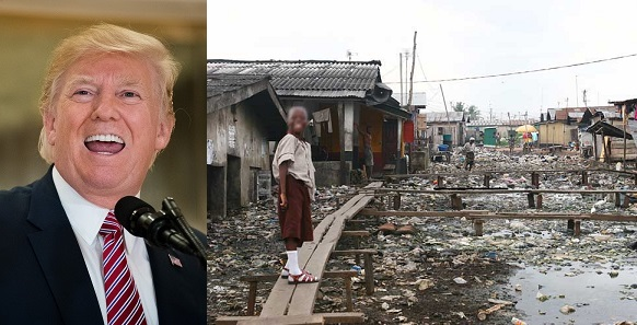 U.S President, Donald Trump Refers To Africans And Haitians As People From Sh*thole Countries.