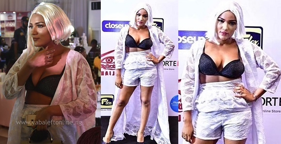 """My Mom dressed me for the live screening show"" — #BBNaija Gifty speaks on her bra outfit (photos)"