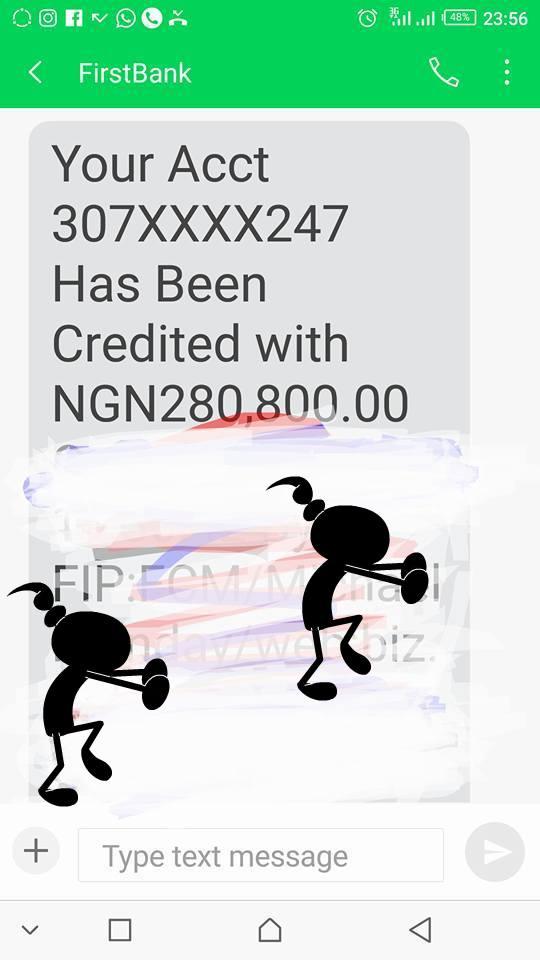 cynthia onyinye okafor gets N305k naira as birthday gift
