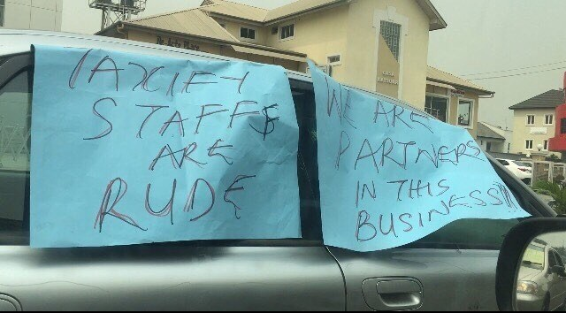 Taxify Drivers Protest