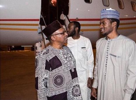 Yusuf Buhari arrives Nigeria