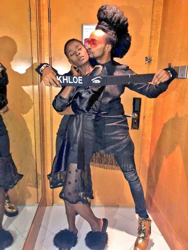 Denrele Edun reacts as Khloe returns to the Big Brother House