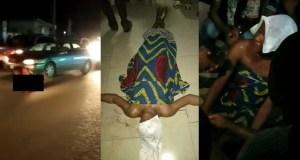 Nigerian lady runs mad