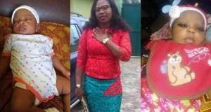 Nigerian lady gives birth