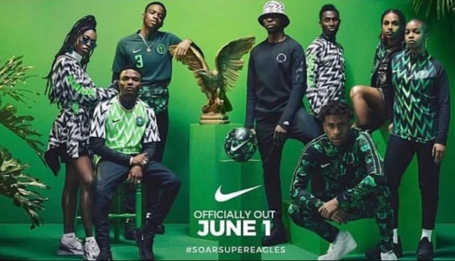 4ae70a2b0 ... Nike who are their official kits sponsor unveiled the official 2018  World Cup kits for the Super Eagles in London on February 7