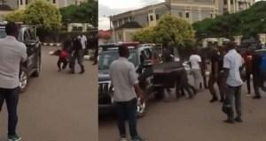 Nigerian police beat