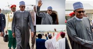 President Buhari departs Abuja