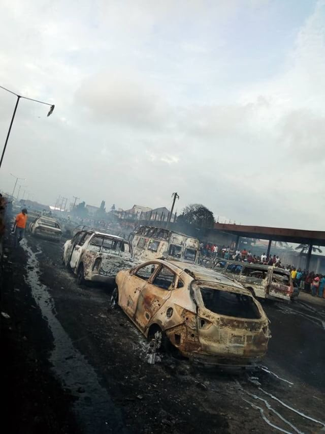 How 9 people were killed, 54 vehicles burnt as tanker exploded on Lagos-Ibadan expressway