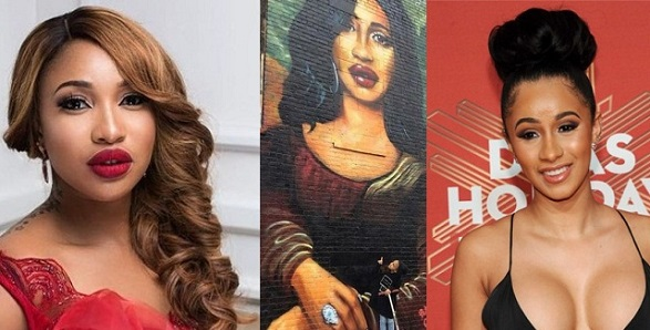 See this wall painting of Cardi B in Brooklyn that looks more like Tonto Dikeh