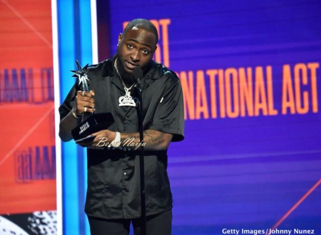 Davido wins Best International Act