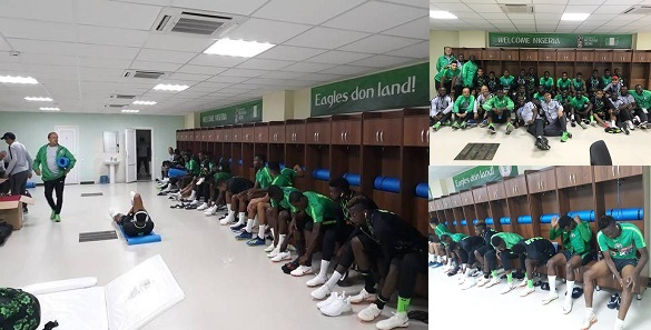 Super Eagles locker room