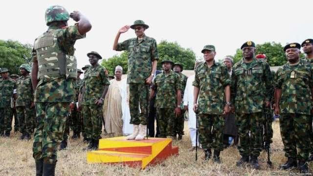 Buhari praises Military