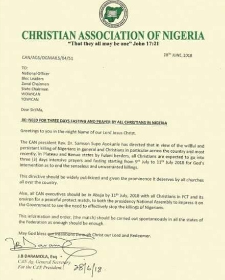 Christian Association Nigeria