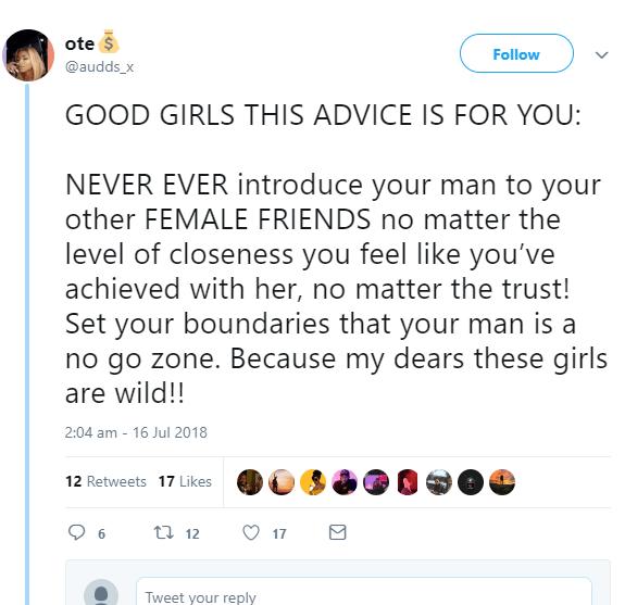 woman advises 'good girls
