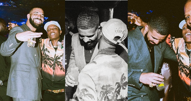 Image result for drake and wizkid party in london