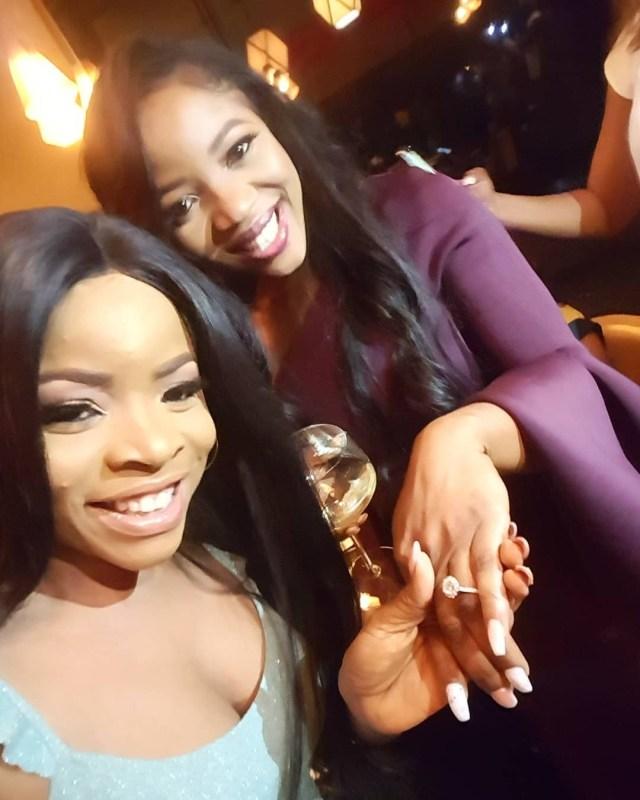 Linda Ikeji's sister, Sandra Ikeji is engaged (Photos)