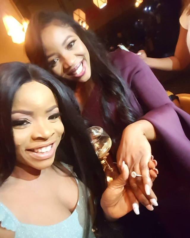 Linda Ikeji's sister, Sandra Ikeji is engaged (Photos)