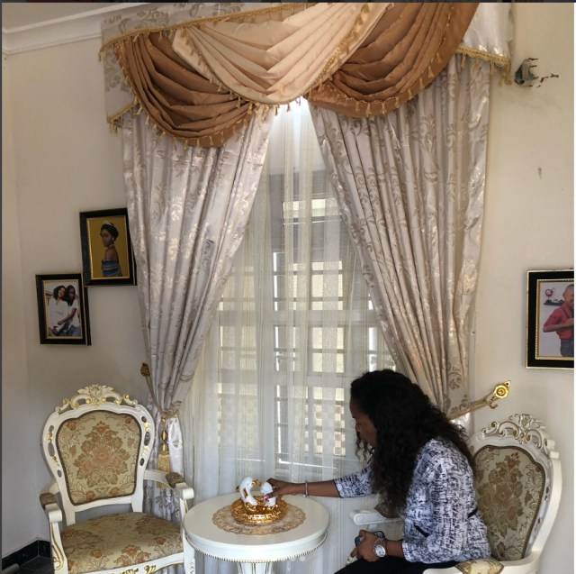 Mercy Aigbe flaunts interior decor of her new house