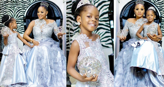 Uche Ogbodo shares beautiful photos of herself and her daughter in matching outfits