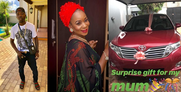 Image result for Nigerian man throws mother a surprise birthday party, buys her a brand new car