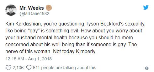 Kim Kardashian dragged on social media for homophobic response to Tyson Beckford