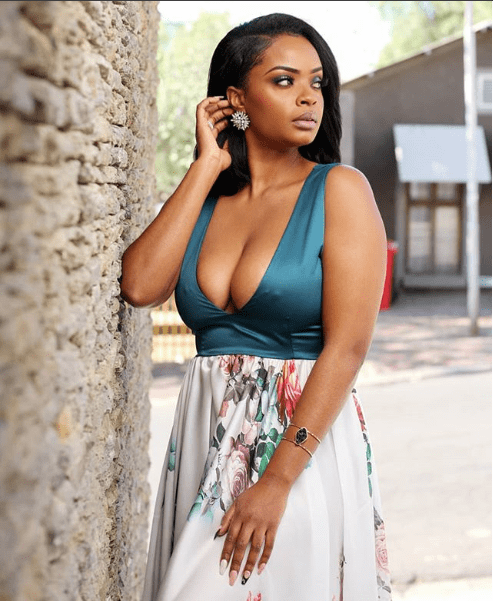 Emmanuel Adebayor's girlfriend Dillish Mathews Flaunts Cleavage In Eye-Popping Photo