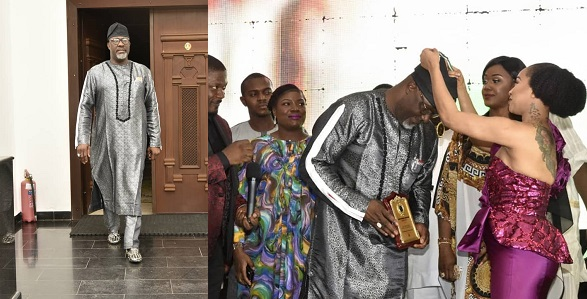 Image result for Tonto Dikeh decorates Dino Melaye as 'outstanding lawmaker of the year' (Photos)