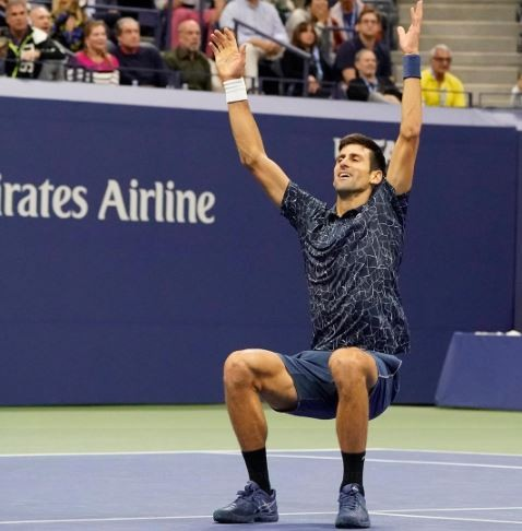 Novak Djokovic wins