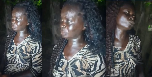 Image result for Fake mad woman caught picking used sanitary pads, makes shocking confessions (Photos)
