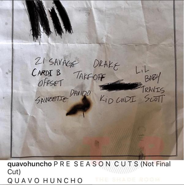 Quavo reveals