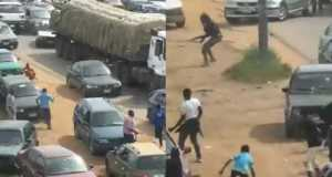 Nigerian Army officers shoot