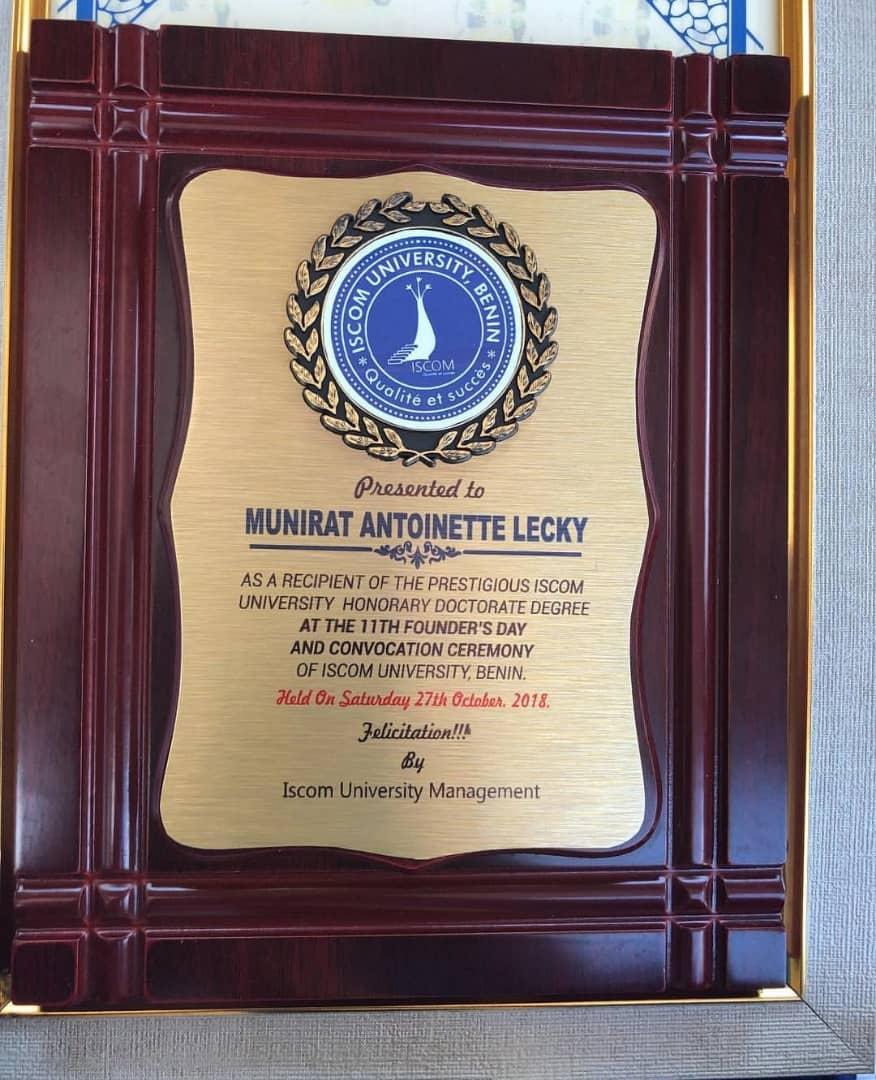 Anto Lecky honoured